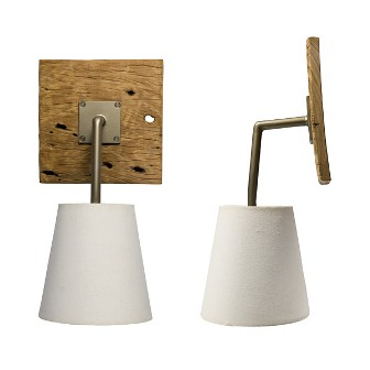 Luminaire en bois applique murale exterieur borne - Eclairage exterieur applique ...